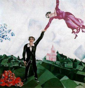 The Promenade (1918) - Marc Chagall