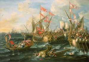 Painting of the Battle of Actium