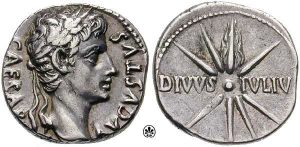 A silver coin from Augustan era