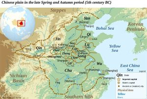 Spring and Autumn Period map