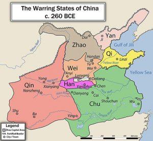 Warring States Period map