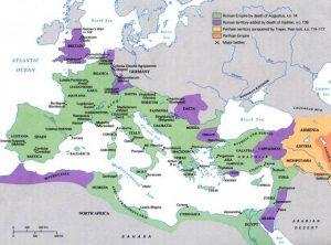 Map of the Roman Empire under Augustus