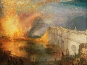 The Burning of the Houses of Lords and Commons (1835) - J.M.W. Turner