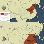 Western and Eastern Zhou Dynasty Map