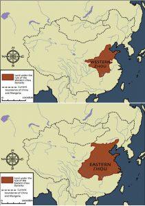 Western and Eastern Zhou Dynasty Map