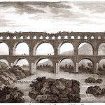 1804 Engraving of Pont du Gard