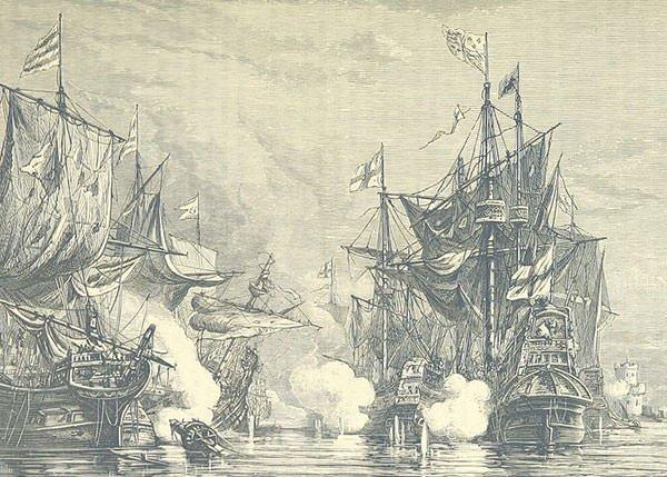 Battle of San Juan de Ulua illustration