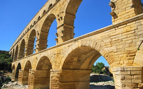 Close Up of Pont du Gard