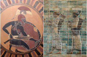 Greek and Persian warriors