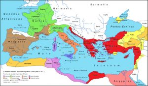 Map of Rome in 43 BC