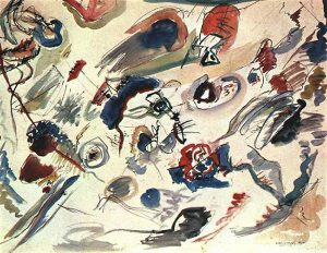 First abstract watercolor (1910) - Kandinsky Wassily