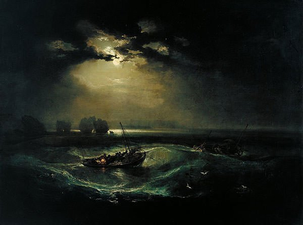 Fishermen at Sea (1796) - J.M.W. Turner