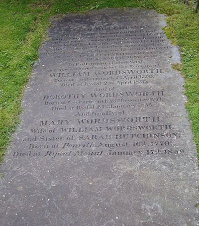 Gravestone of William Wordsworth