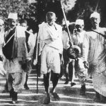 Mahatma Gandhi during the Salt March