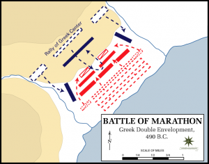 Battle of Marathon forces movement map