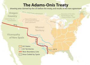 Adams–Onis Treaty map