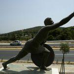 Modern statue of Pheidippides