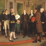 Painting of Signing of the Treaty of Ghent