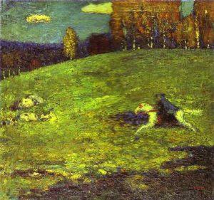 Der Blaue Reiter (1903) - Wassily Kandinsky