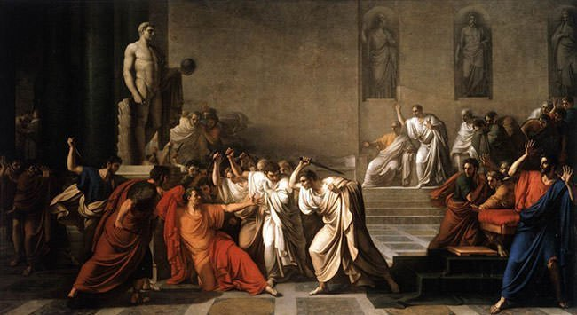 Painting of the Assassination of Julius Caesar