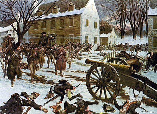 Painting of Battle of Trenton