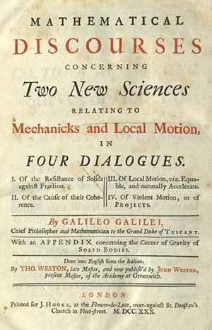 Cover of Two New Sciences
