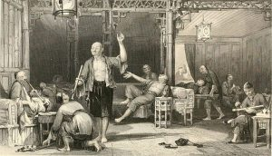 Chinese opium smokers depiction