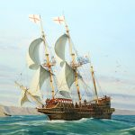 Painting of Golden Hind