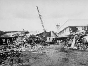 Hilo, Hawaii after the 1960 Chilean Tsunami