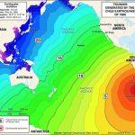 Map of 1960 Valdivia tsunami