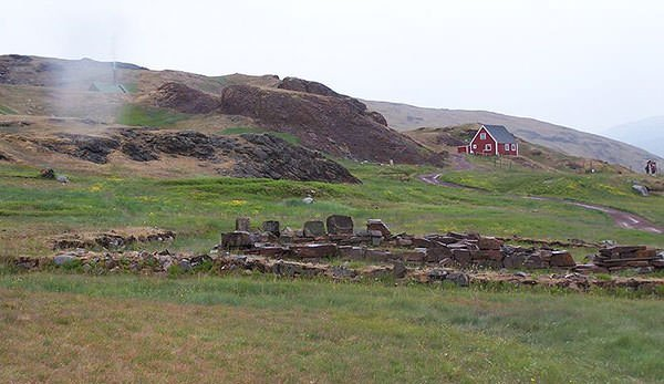 Ruins of Brattahlid in Greenland