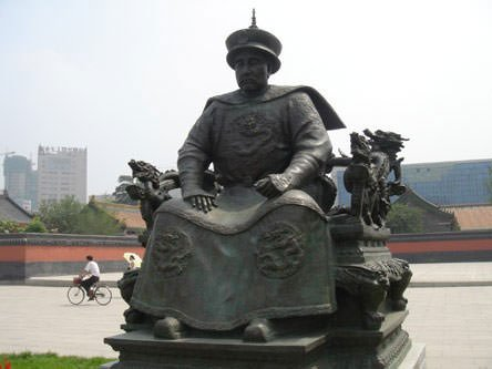 Statue of Nurhaci of Qing Dynasty