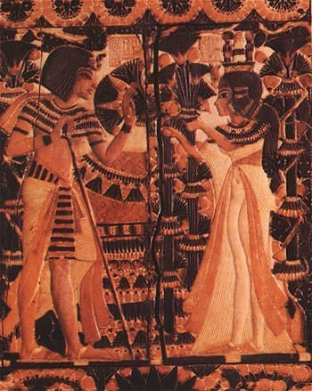Tutankhamun and his wife Ankhesenamun