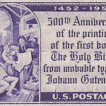Gutenberg Bible stamp