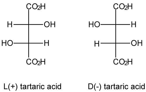 Tartaric acid isomers 2D Representation