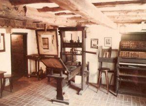 Replica of Gutenberg's press