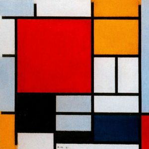 Composition with Large Red Plane, Yellow, Black, Gray and Blue (1921) - Piet Mondrian