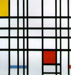 Composition with Red, Yellow and Blue (1942) - Piet Mondrian