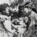 Eleanor Roosevelt with children in 1935