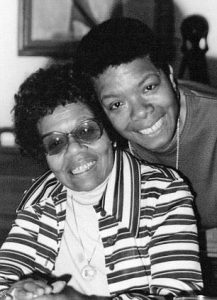 Maya Angelou and her mother Vivian Baxter