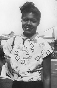 Maya Angelou in her youth
