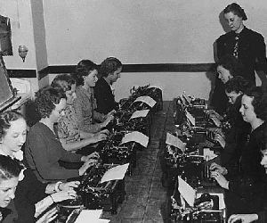 National Youth Administration typing class