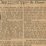 My Day article by Eleanor