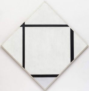 Tableau I, Lozenge with Four Lines and Gray (1926) - Piet Mondrian
