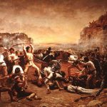 The Fall of the Alamo - Painting by Robert Onderdonk