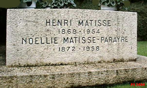 Tombstone of Henri Matisse
