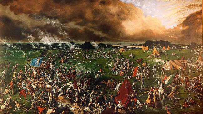 Painting of the Battle of San Jacinto