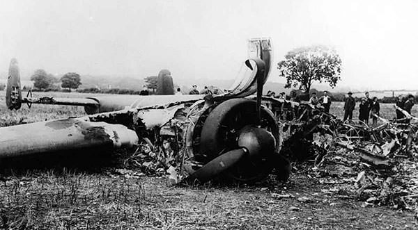 German Dornier Do 17 shot down during Battle of Britain