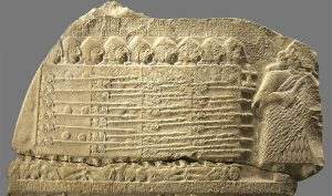 Sumerian stele showing the earliest evidence of a phalanx