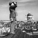 An Observer Corps spotter during the Battle of Britain